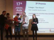 """Tercer puesto para León """"Centro Don Bosco"""" en Aula Emprende"""